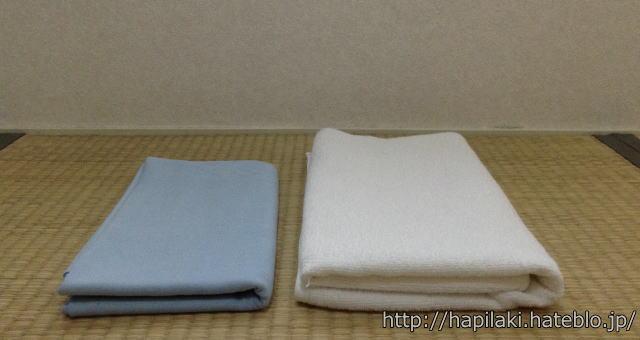 リーフツアラーとバスタオルの大きさ比較2