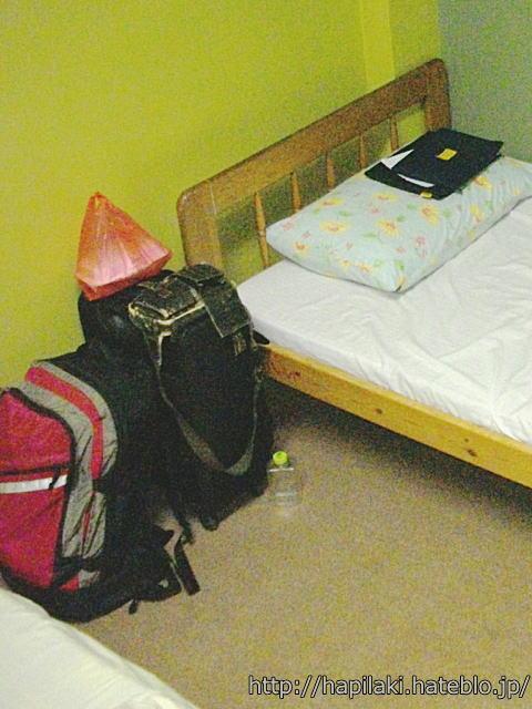機内持ち込み可能サイズのスーツケースとバックパック