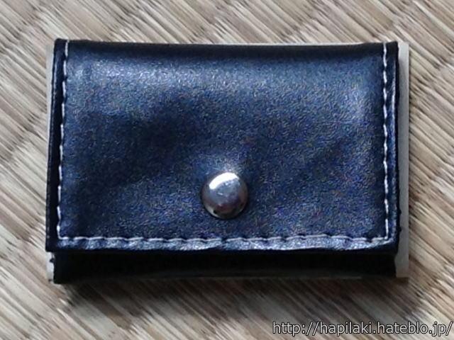 三つ折紙幣よりも小さい自作の薄い財布