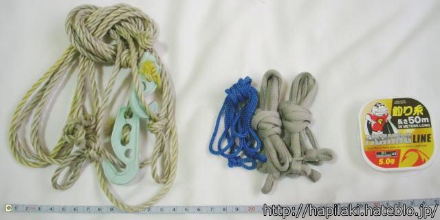 洗濯ロープ代わりの細くて長くない紐