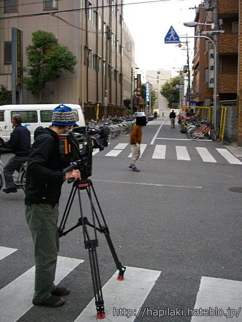 西成あいりん地区でビデオ撮影