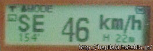 GPSロガーM-241で電車の速度表示4