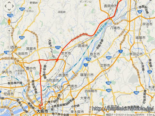 GPSデータをgoogle mapsで表示