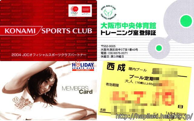スポーツクラブ会員証