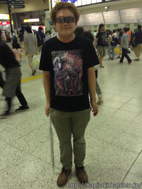 東京上野駅での齊藤貴義さん