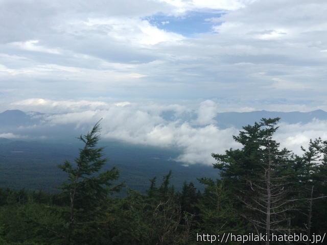 富士山五合目からの景色や眼下の雲
