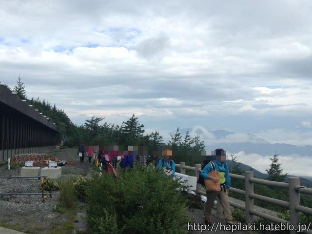富士山五合目からの景色や眼下の雲2