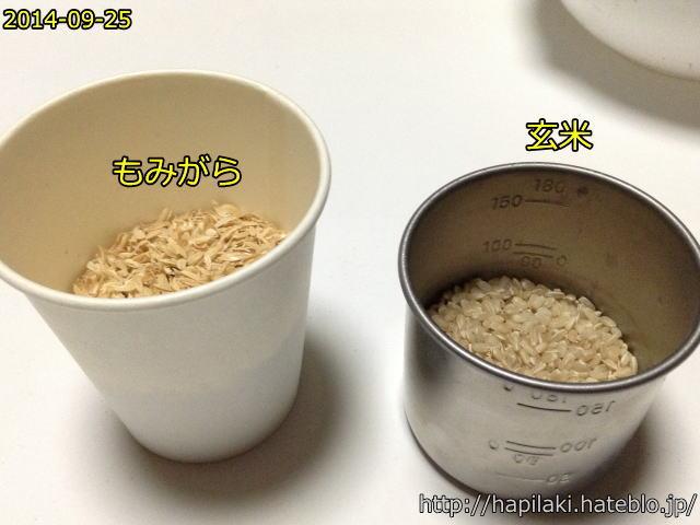 ザルと軟球でもみすりして玄米にする7