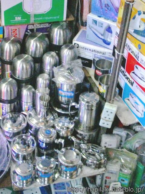 プノンペンのセントラル・マーケットで売られていた電気ケトル