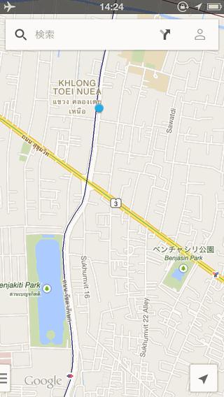 バンコクのサーミットタワーの位置を地図で