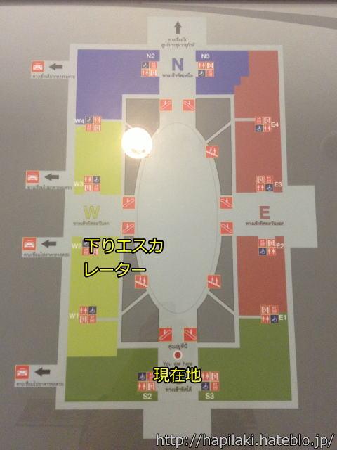 バンコクのイミグレの館内図
