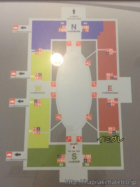 バンコクのイミグレの館内図2