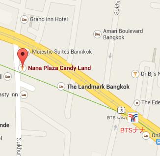 バンコクのナナプラザの地図