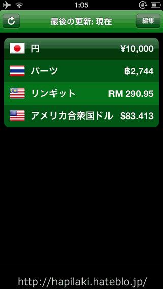 iPhone/アンドロイド用アプリの「Currency」