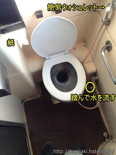 マレー鉄道寝台列車の洋式トイレ