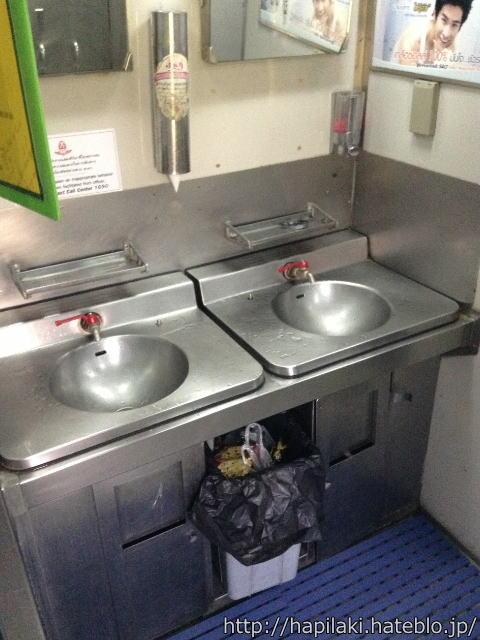 マレー鉄道寝台列車の洗面台