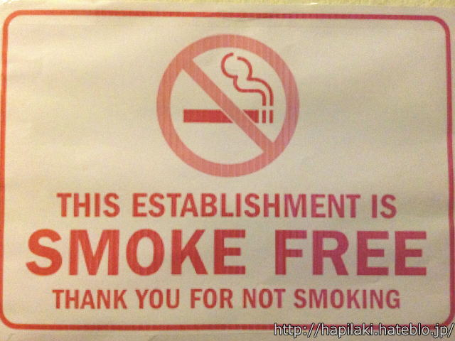 THIS ESTABLISHMENT IS SMOKE FREE THANK YOU FOR NOT SMOKING