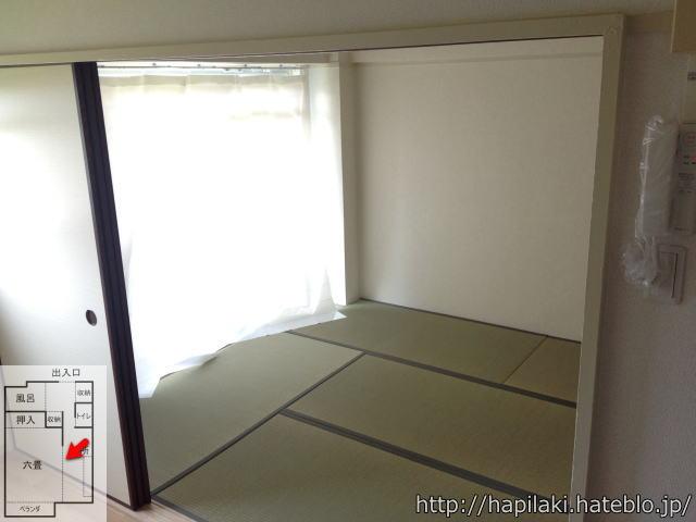 URワンルーム(1DK)間取り:六畳の部屋
