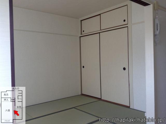 URワンルーム(1DK)間取り:六畳の部屋の押入れ