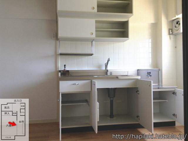 URワンルーム(1DK)間取り:キッチンの収納棚の中
