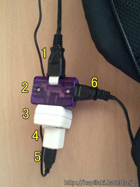 押入れデスクの電源周辺の構成