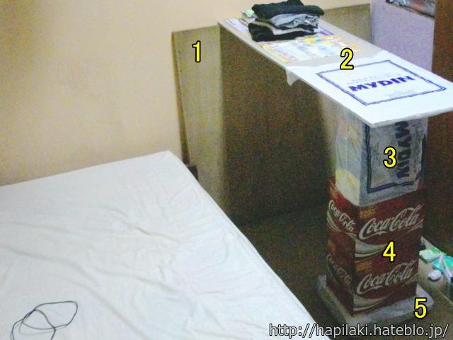 自作テーブル、ペットボトル/空箱/廃材をリユースで積み上げるだけの簡単設計