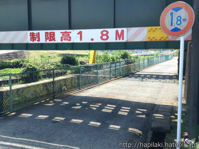 制限高1.8m標識