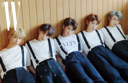 txt メンバーたちが掲載されるWKOREAの画像
