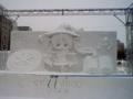 ミクの雪像