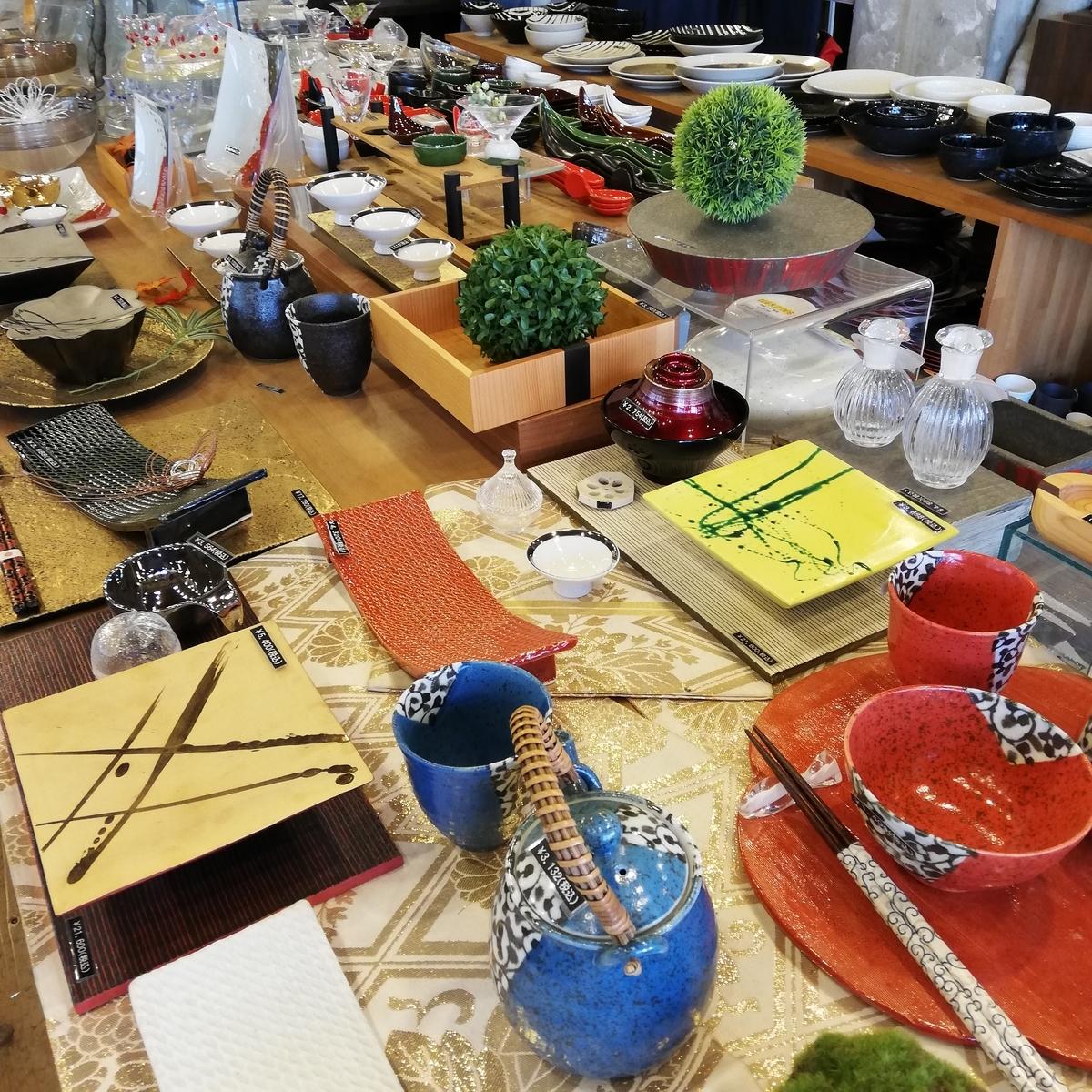 和食器の陳列
