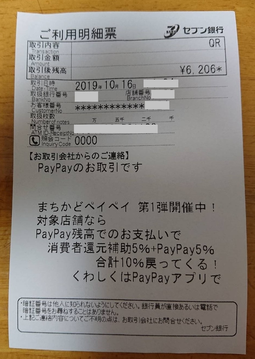 PayPay(ペイペイ)明細