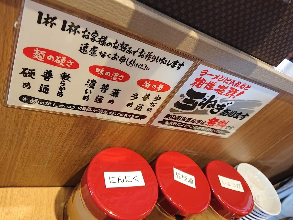 町田商店メニュー