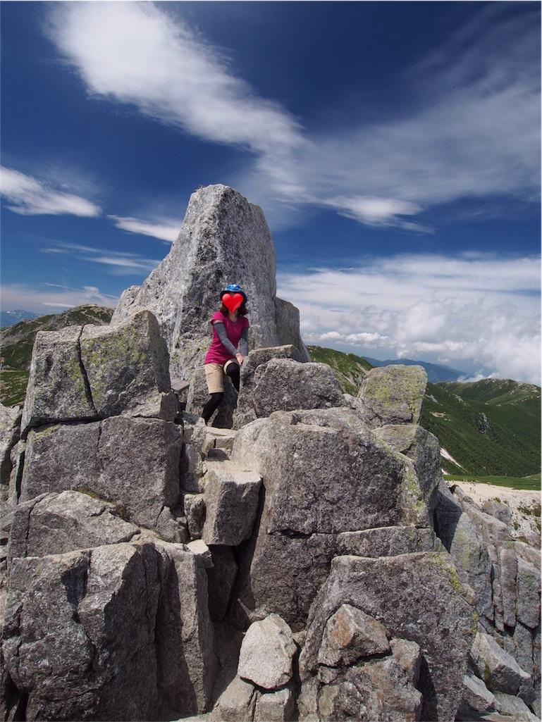 宝剣岳登頂