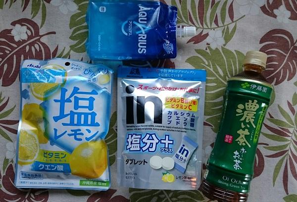 熱中症対策 飴 タブレット アクエリアス お茶