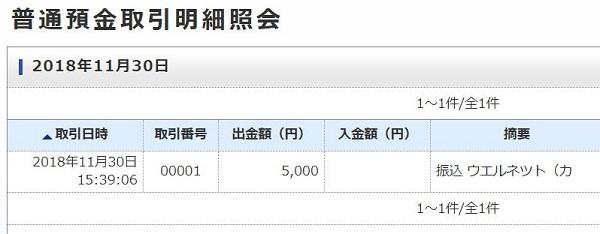 ジャパンネット銀行 取引明細