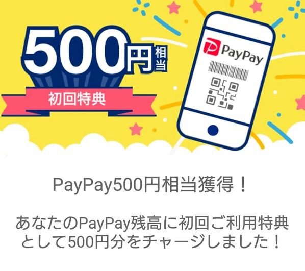 PayPay登録完了