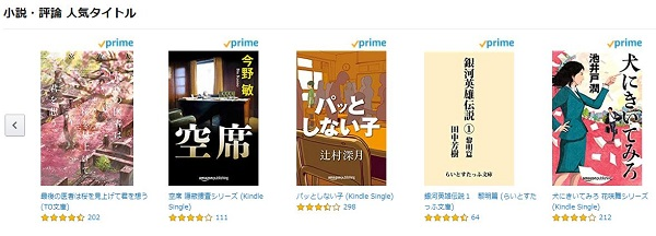 Amazon Kindle 小説・評論