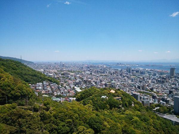 神戸布引ロープウェイ ゴンドラからの景色