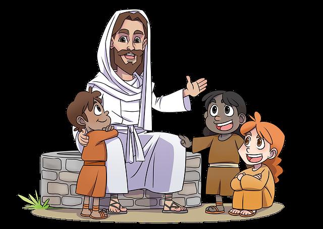 マンガ聖書の登場人物であるイエスさま