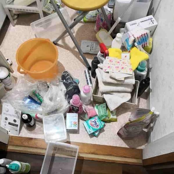 全て出した洗面所