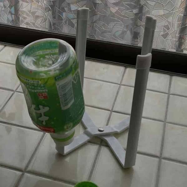 ペットボトルを乾燥できる