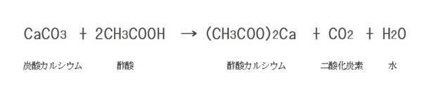 炭酸カルシウムの化学式