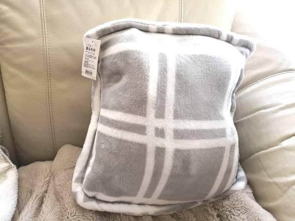 クッションにもなる着る毛布