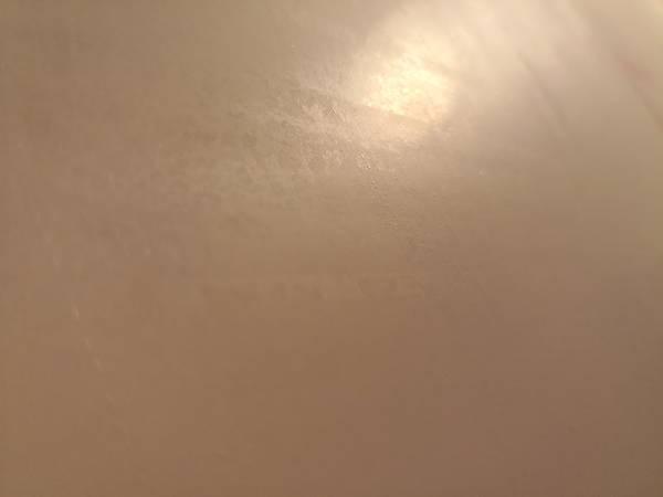 酸性クレンザーで磨いた後