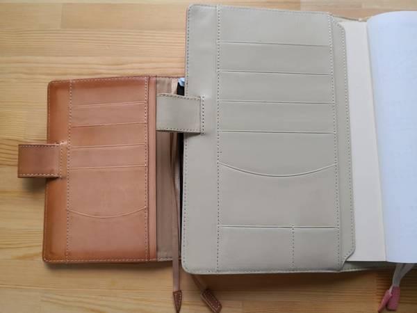ほぼ日手帳の左側ポケット