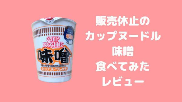 カップヌードル味噌レビュー
