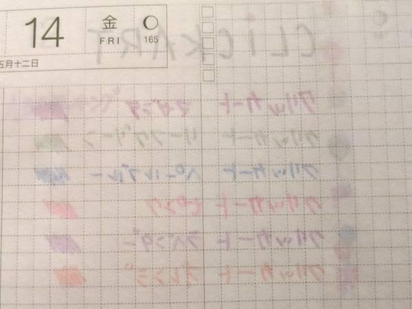 クリッカートでほぼ日手帳に試し書き