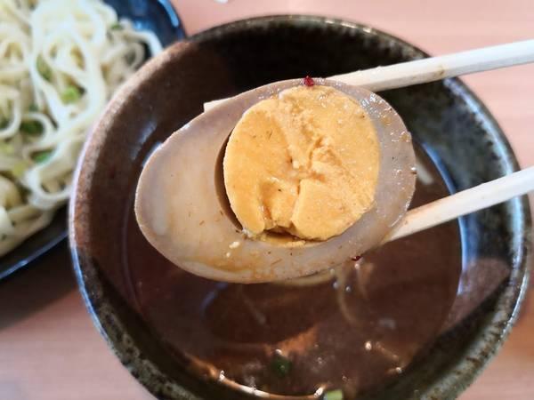 麺匠志輝の魚介つけ麺に卵