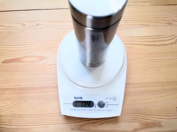 タイガーサハラマグ300mlの重さ