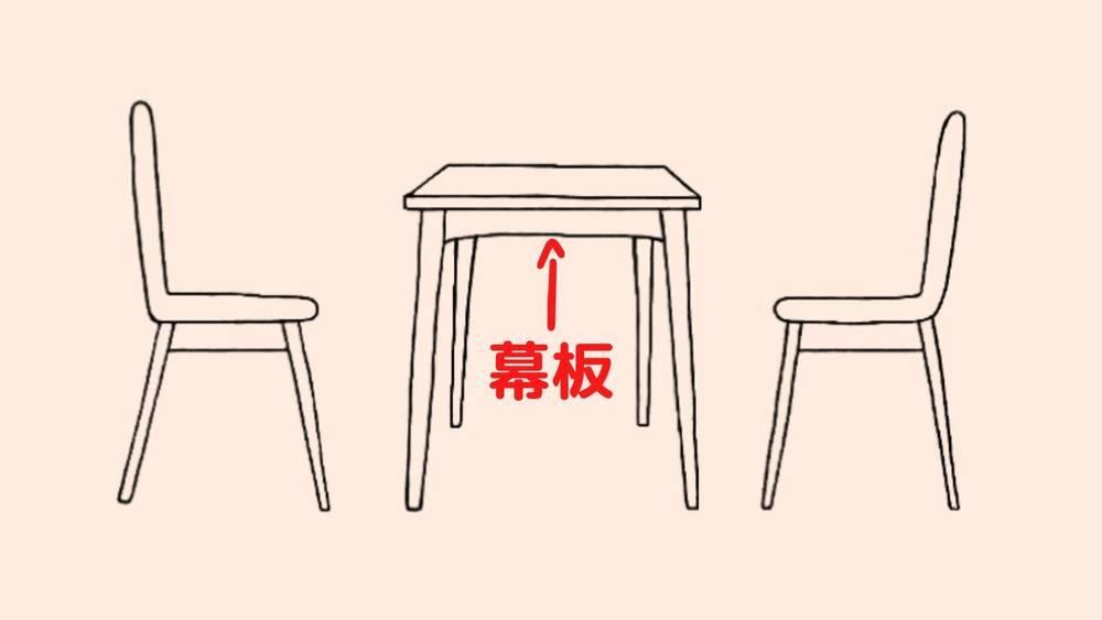 ダイニングテーブルの幕板